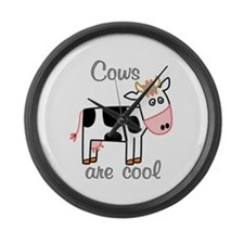 Cows are Cool Large Wall Clock