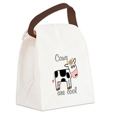 Cows are Cool Canvas Lunch Bag