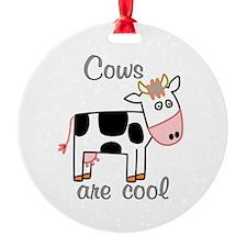 Cows are Cool Ornament