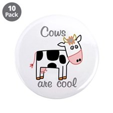 """Cows are Cool 3.5"""" Button (10 pack)"""