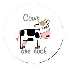 Cows are Cool Round Car Magnet