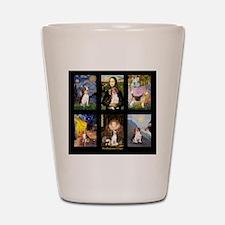 T-Beagle Famous Art Comp Shot Glass