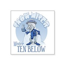 "Snow Miser - Mister Ten Bel Square Sticker 3"" x 3"""