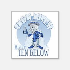 "Snow Miser - Mister Ten Bel Square Sticker 3"" x 3"""