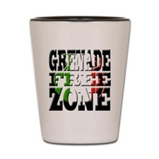 Grenade Free Zone Jersey Shore Shot Glass