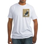 Silver Check Bald Fitted T-Shirt