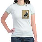 Silver Check Bald Jr. Ringer T-Shirt