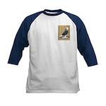 Silver Check Bald Kids Baseball Jersey