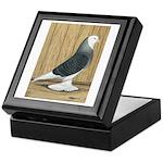 Silver Check Bald Keepsake Box