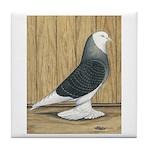 Silver Check Bald Tile Coaster