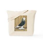 Silver Check Bald Tote Bag