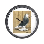 Silver Check Bald Wall Clock