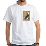 Silver Check Bald White T-Shirt