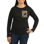 Silver Check Bald Women's Long Sleeve Dark T-Shirt