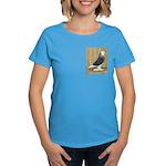 Silver Check Bald Women's Dark T-Shirt