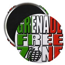 Grenade Free Zone Jersey Shore Magnet