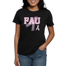 FAU initials, Pink Ribbon, Tee