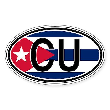 Cuba Euro Oval Sticker