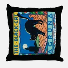 IPad The Black Cat Throw Pillow