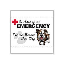 Save My Bulldog Rectangle Sticker