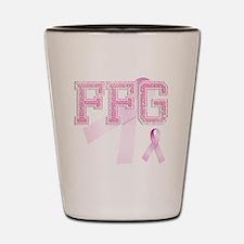 FFG initials, Pink Ribbon, Shot Glass