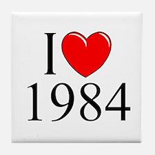 """""""I Love 1984"""" Tile Coaster"""