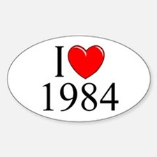 """I Love 1984"" Oval Decal"