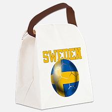 Sweden Football Canvas Lunch Bag