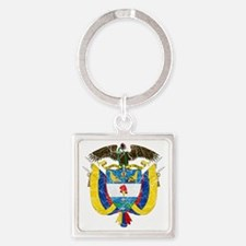 Colombia Coat of Arms cracle Square Keychain