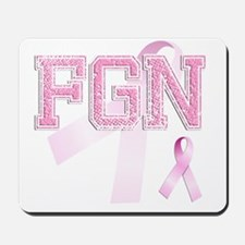 FGN initials, Pink Ribbon, Mousepad