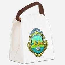 Costa Rica Coat of Arms cracle Canvas Lunch Bag