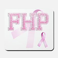 FHP initials, Pink Ribbon, Mousepad