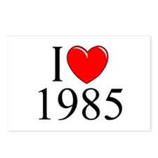 """""""I Love 1985"""" Postcards (Package of 8)"""