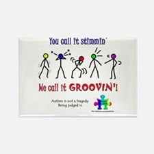 Stimmin'? Groovin'! Rectangle Magnet