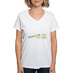 Born OK the First Time  Women's V-Neck T-Shirt