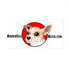 MarvinDog-Media-logo-Banner Aluminum License Plate