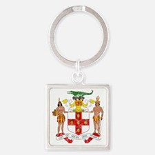 Jamaica Coat of Arms cracle Square Keychain