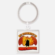 Chaotic Awesome Square Keychain