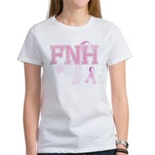 FNH initials, Pink Ribbon, Tee