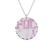 FOC initials, Pink Ribbon, Necklace