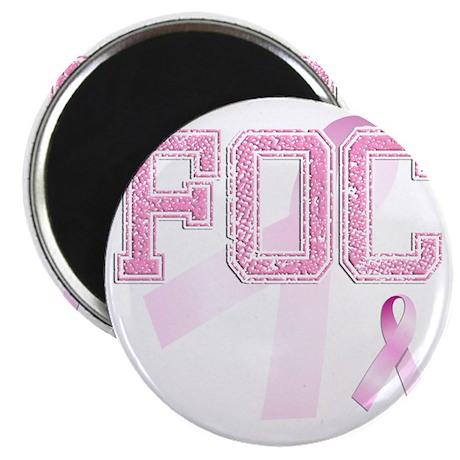 FOC initials, Pink Ribbon, Magnet