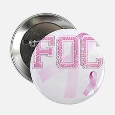"FOC initials, Pink Ribbon, 2.25"" Button"