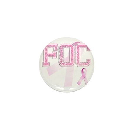 FOC initials, Pink Ribbon, Mini Button