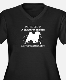 SEALYHAM TERRIER designs Women's Plus Size V-Neck