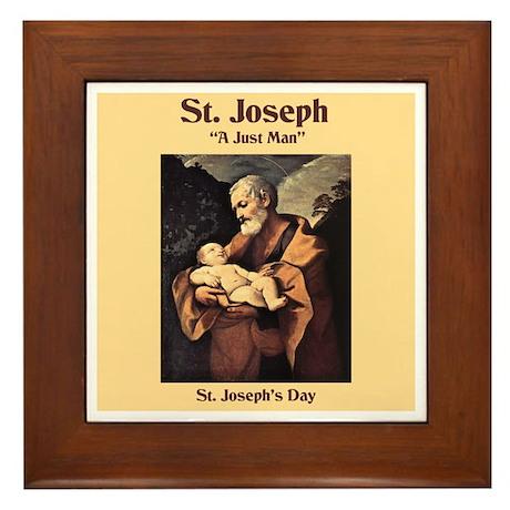 St. Joseph's Day Framed Tile
