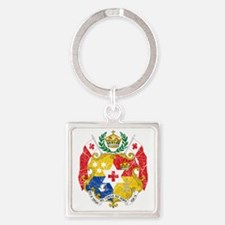 Tonga Coat of Arms cracle Square Keychain