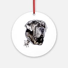Neapolitan mastiff by madeline wilson Ornament (Ro