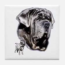Neapolitan mastiff by madeline wilson Tile Coaster