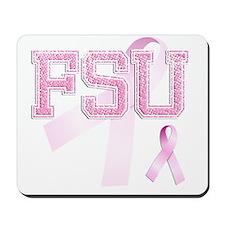 FSU initials, Pink Ribbon, Mousepad