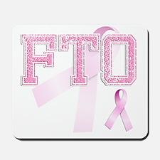 FTO initials, Pink Ribbon, Mousepad